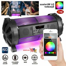 30W LED Bluetooth Speaker Indoor/Outdoor Wireless Stereo Bas