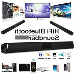 32W Stereo Bluetooth Wireless Sound Bar Home TV Speaker for
