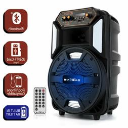 "8"" 1000W Portable FM Bluetooth Speaker Sound System DJ Party"