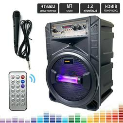 8'' Portable FM Bluetooth Speaker 1000W Subwoofer Heavy Bass