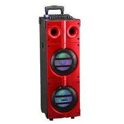 8x2 Inch Bluetooth Dj Speaker Portable Party With Guitar Inp