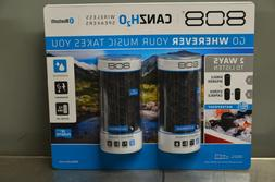 808 980049659 Canz H2O Bluetooth Wireless Speaker Pack of 2