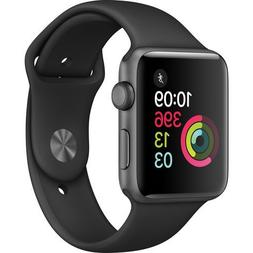 Apple Watch Series 2 Smartwatch 42mm Space Gray Aluminum Cas