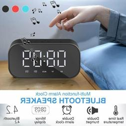 alarm clock portable wireless bluetooth speaker radio