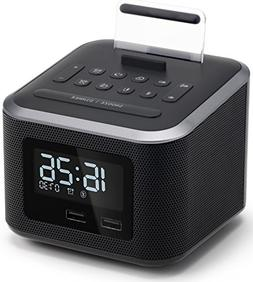 Alarm Clock Radio,Wireless Bluetooth Speaker,Digital Alarm C