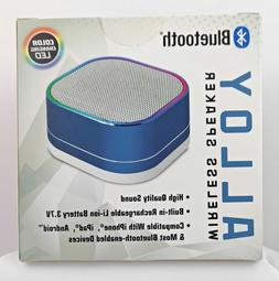 ALLOY BLUETOOTH WIRELESS SPEAKER *COLOR CHANGING LED* *BLUE*