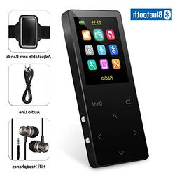 8GB Bluetooth MP3 Player with FM Radio/ Voice Recorder, 60 H