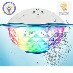 Bluetooth Pool Speaker with Colorful Lights, Floating Waterp