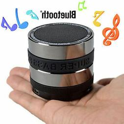 BLUETOOTH PORTABLE SPEAKER WIRELESS BASS STEREO BLACK PC NEW