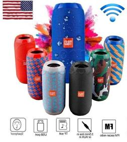 bluetooth wireless speaker waterproof stereo bass outdoor