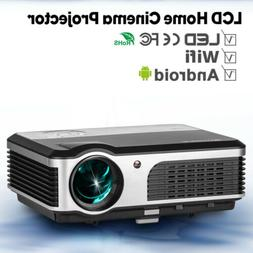 Built-in Speaker HD 1080p LED Android Home Theater Projector