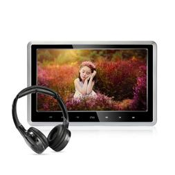 Car DVD Player with Wireless Headphones, 10.1 inch HD Headre