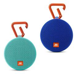 JBL Clip 2 Waterproof Portable Bluetooth Speaker Pair