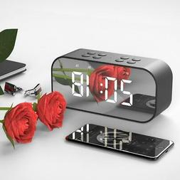 Digital Alarm Clock Wireless Bluetooth Speaker