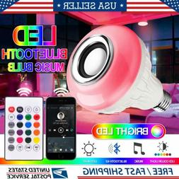 LED RGB Color Bulb Light E27 Bluetooth Control Smart Music A