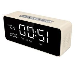 "FM Radio Alarm Clock with 8"" Dimmable Large LED, USB Charger"