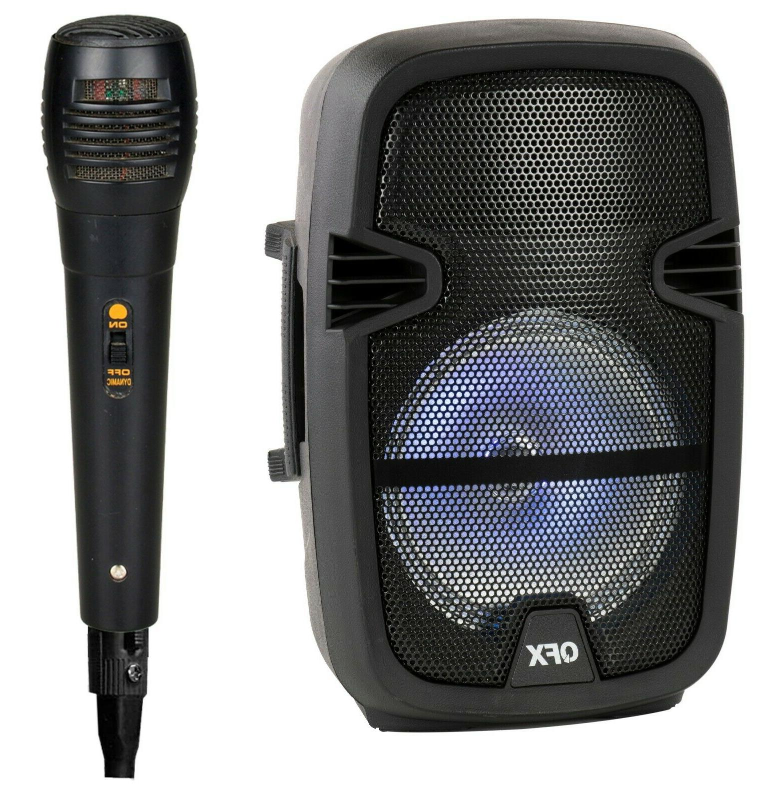 4,400 Party Bluetooth Speaker W/ Microphone & Remote