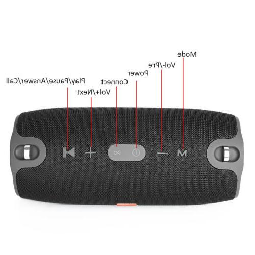 20W Charge Waterproof Bluetooth Portable Bass Stereo AUX MP3