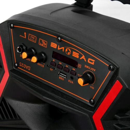 """8"""" Bluetooth Speaker Party Tailgate Heavy Bass"""