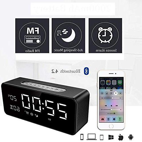 Orionstar Clock with FM, for Bedroom with Inch Sleep Timer Port AUX SD Compatible Model