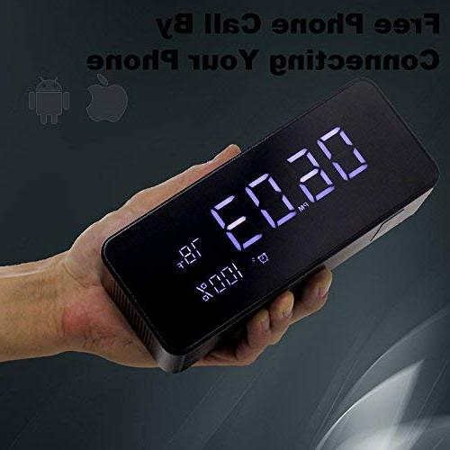 Orionstar with FM, Wireless Speaker for Bedroom Inch Sleep Timer Dimmer Port Thermometer Display AUX Micro SD Widely