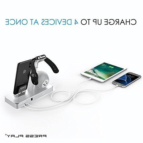 Press Beat Power Station Wireless Dock, & Watch Smart iPhone, iPad Lightning