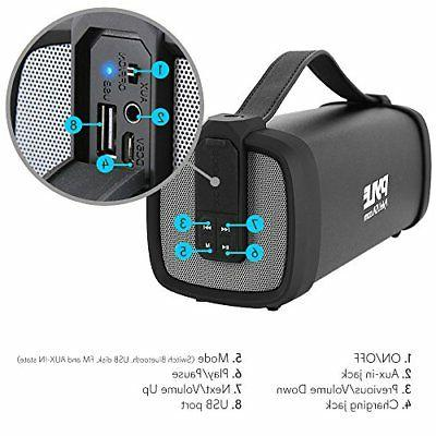 Pyle Wireless Portable Speaker 100 Power Compact