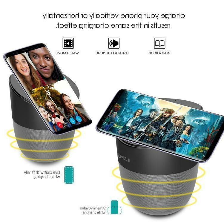 Qi Wireless Charger Bluetooth Loud Music Speaker Sub Woofer