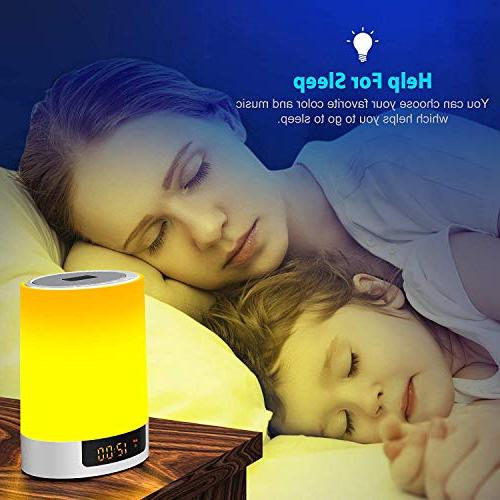 Alarm Speakers, Touch LED Color Bedside Lamp, MP3 for Bedrooms, Gifts