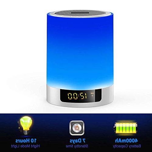 Alarm Speakers, Touch Sensor LED Bedside MP3 Music Bedrooms,