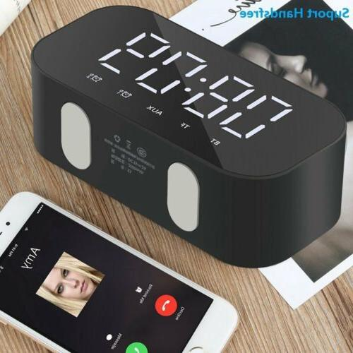 Alarm Clock Portable Bluetooth