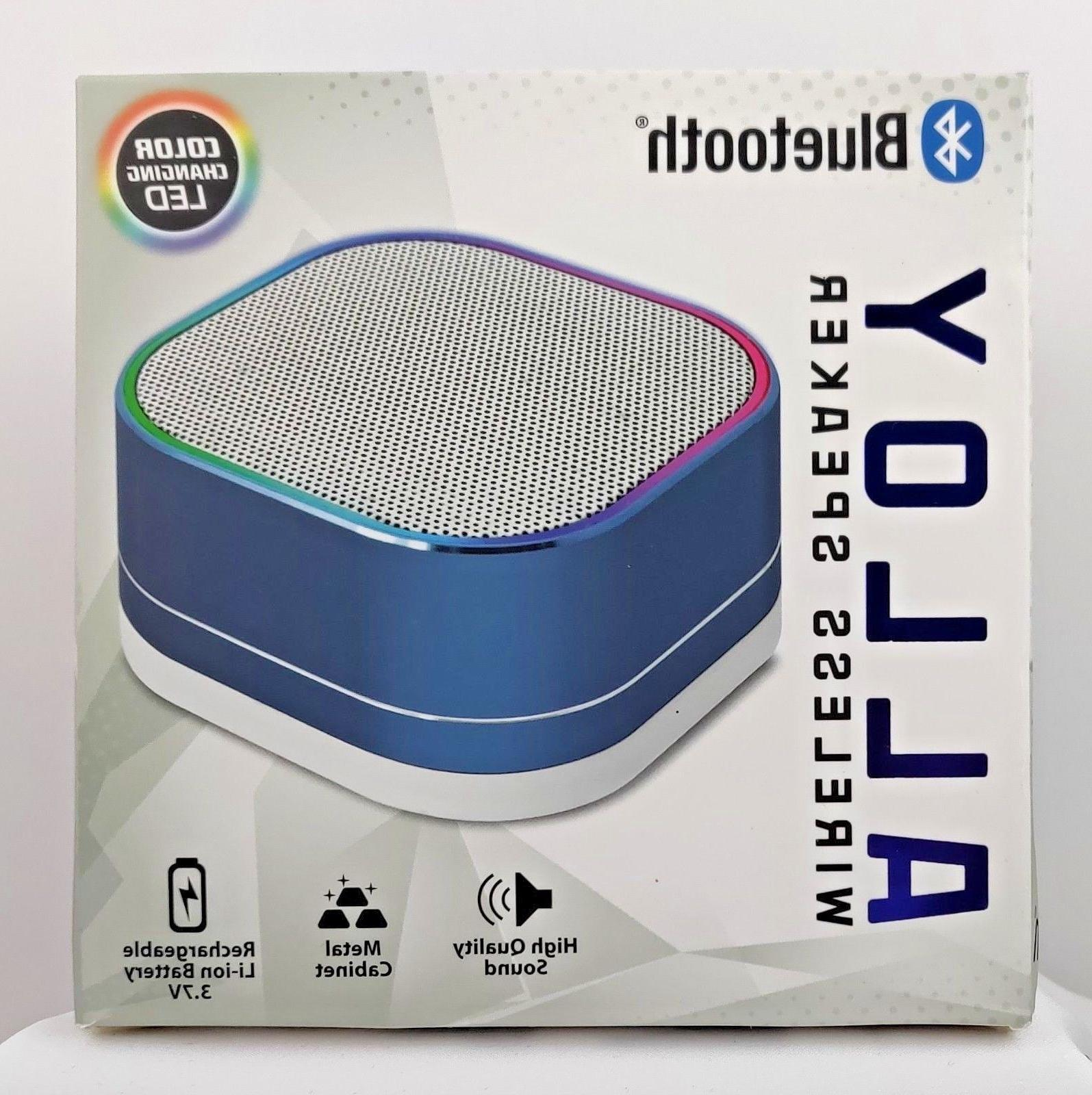 ALLOY BLUETOOTH WIRELESS SPEAKER *COLOR CHANGING LED* *RECHARGEABLE