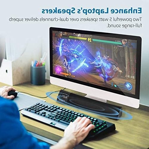 Avantree Latency Laptop Superb Sound, Wireless Home Stereo Super Bass Mini Sound for iPhone, Tablets, Torpedo