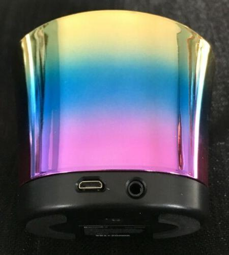 ART& Iridescent Portable Speaker w/Charging Cable,