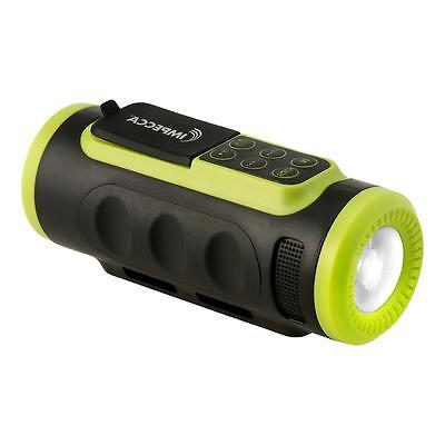 Impecca ASM330BTG Bluetooth Bicycle Speaker With Headlight G