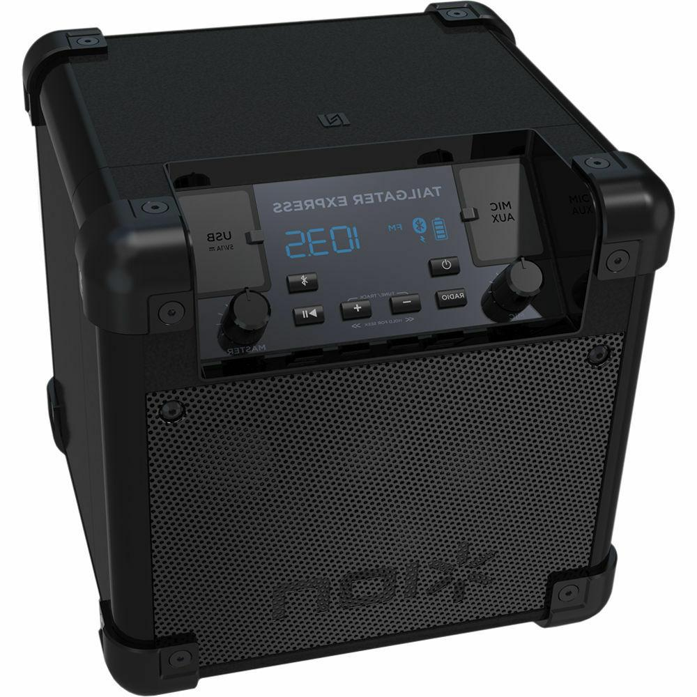 audio tailgater express compact portable bluetooth speaker