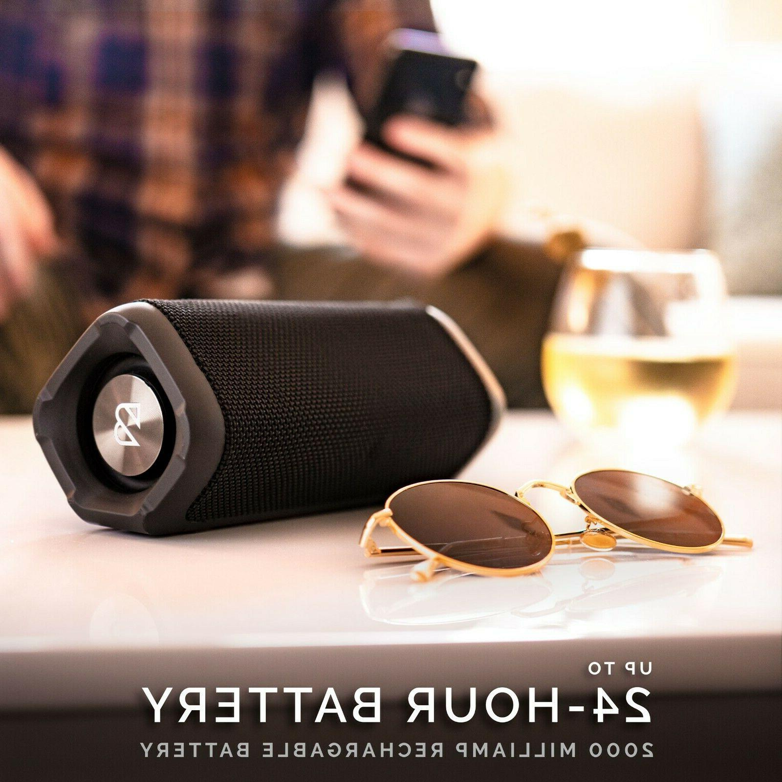 Back Wireless Bluetooth Speaker. Battery