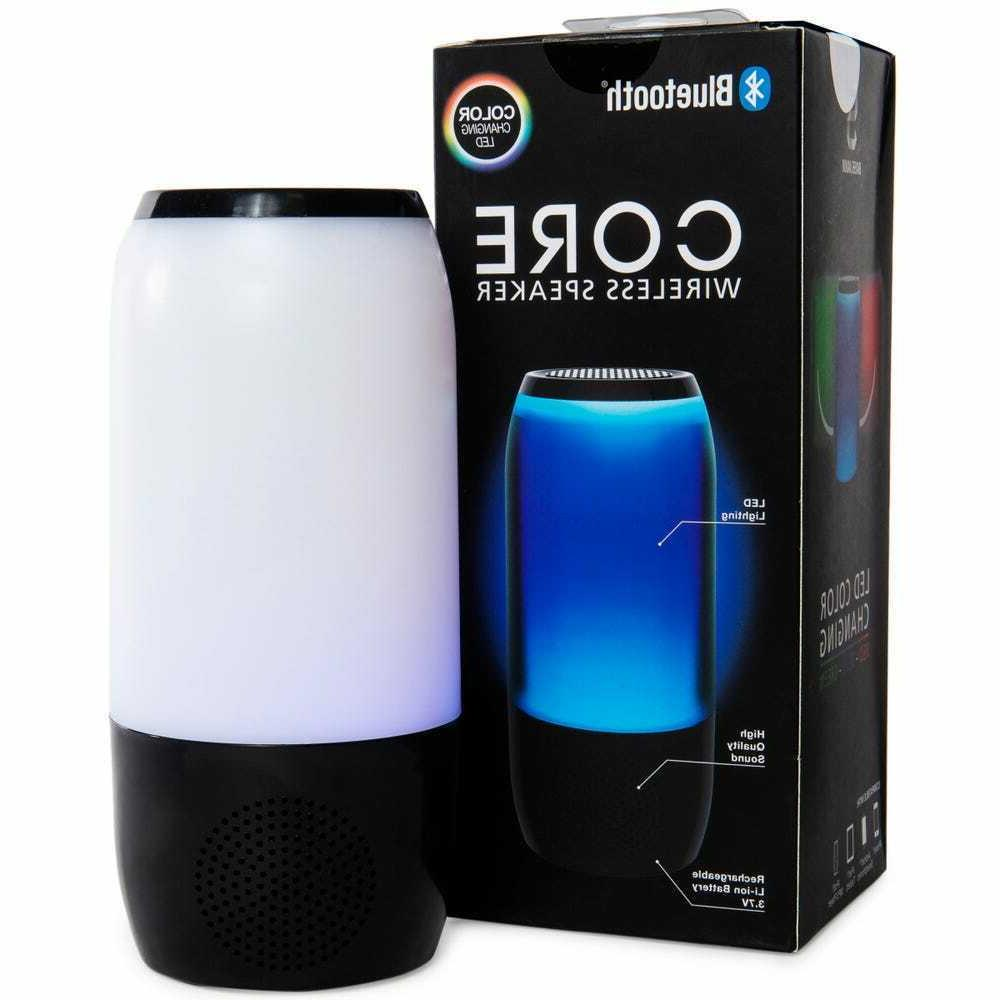 bluetooth core wireless speaker led color changing