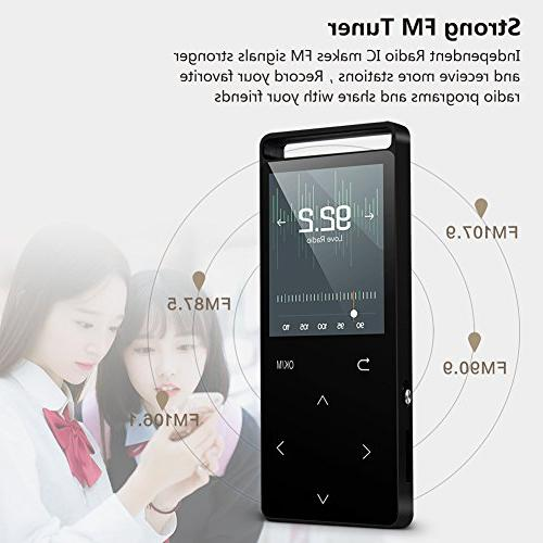 Grtdhx 16GB MP3 Player with FM Recorder, Touch button, Color Earphone, with an
