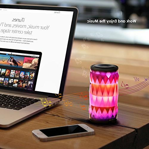 LED Light Changing Wireless Speaker,MIANOVA Portable Wireless Color Supported
