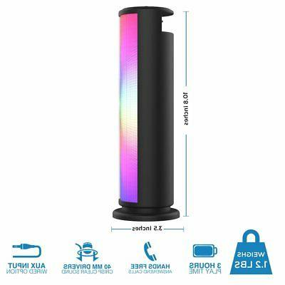 Bluetooth Speaker Portable LED Lights Outdoor Party