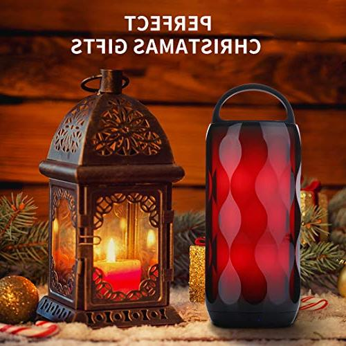 Greadio Bluetooth RGB Touch Night 5W Speaker, Portable Changing LED Themes Table Lamp,