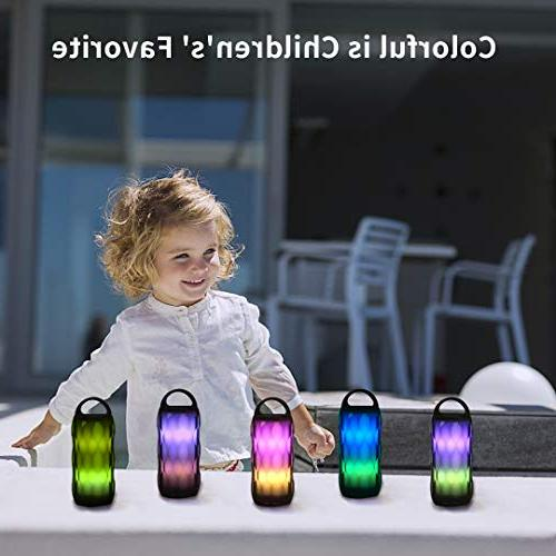 Greadio Speaker RGB Night 5W Portable LED Themes Lamp, Speakerphone/Handsfree/MicroSD