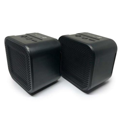Bluetooth Speaker Set: True Wireless Twin Portable TWS Mini