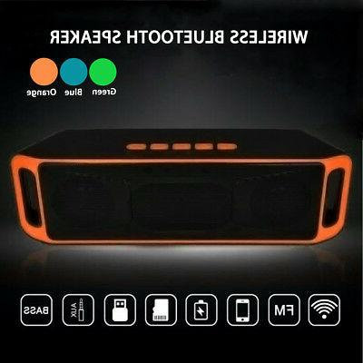 Bluetooth Speaker Wireless Car Super Bass Stereo TF For iPho