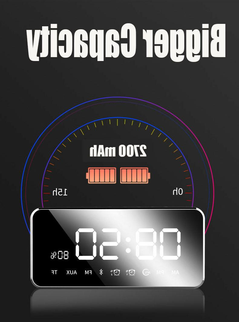 Bluetooth With Mirror Touch Stereo Clock US