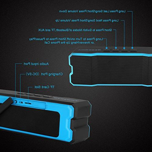 Reserwa Bluetooth IPX6 Waterproof Dustproof Superior 3D Stereo Speakers Dual-Driver Built-in Wireless Speakers Bluetooth Range