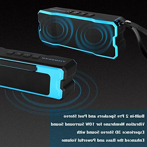 Reserwa Bluetooth Speakers IPX6 Waterproof Dustproof Shockproof Superior 3D Dual-Driver Wireless Speakers Bluetooth Range