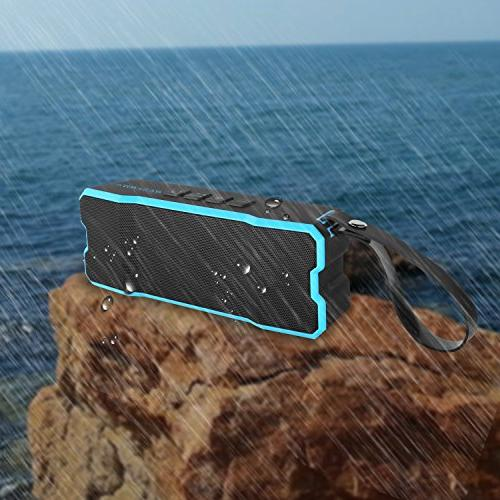 Reserwa Bluetooth Speakers Waterproof Dustproof 3D Speakers Dual-Driver and Built-in Mic Wireless 33-Foot Bluetooth Range Portable