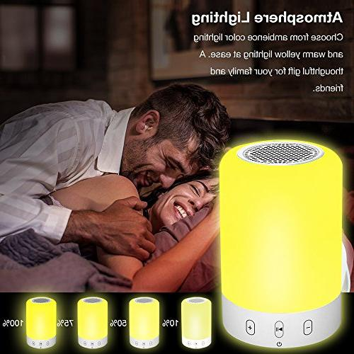 Bluetooth Speakers,POECES Hi-Fi Portable Wireless with Touch Control 6 LED Themes,Best for Women and Children